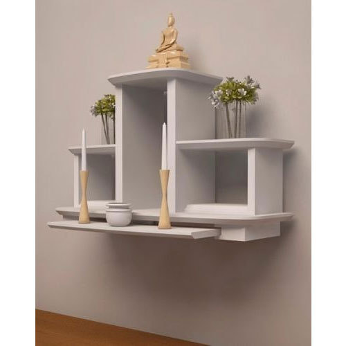 Merveilleux White Wall Mounted Pooja Unit