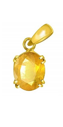 Natural Yellow Sapphire Pendant