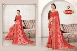 Printed Embroidered Marble Saree - Nirmala