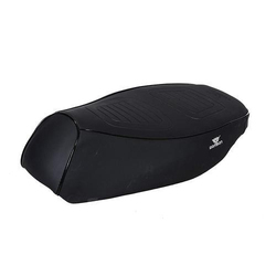 Black Rexine Two Wheeler Seat Cover