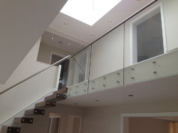 Stainless Steel Straight Run Staircase