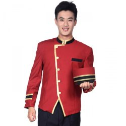 Nylon Male Waiter Uniform