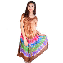 Half Sleeve Digital Print Batik Dress