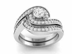 925 Sterling Silver Cubic Zirconia Wedding Ring