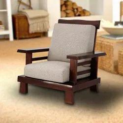 Modern Brown Rajtai Wooden Designing Chair With Cushion Seat