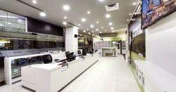 Showroom Interior Designing Ceiling