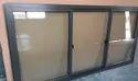 Modern Polished Aluminium Sliding Window, For Office