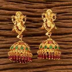 Antique Temple Earring with Gold Plating 200562
