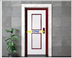 White And Brown Stainless Steel Elevator Swing Landing Door, Cre-002a , Steel Swing