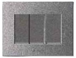 Caprina Series Magnesium Grey Three Switch Plate
