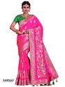 Indian Ethnic Soft Silk Saree With Blouse Piece, Length: 5.5 M