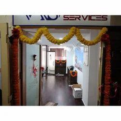 Fresh Flowers Yellow Office Decoration Service