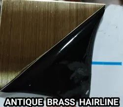 Stainless Steel Antique Brass Hairline Sheets