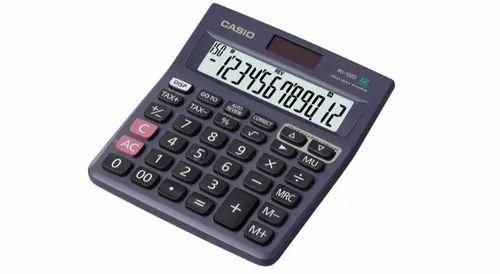 Black Casio Calculator, Size/Dimension: 140 X 123 X 30 Mm, Size: Standard