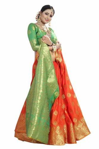 a1b77f443f Ladies Woven Banarasi Silk Saree, With Blouse Piece, Rs 650 /piece ...