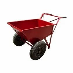Color Coated Double Wheel Barrow