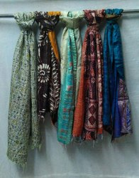 Women Hand Stitch Silk Scarve
