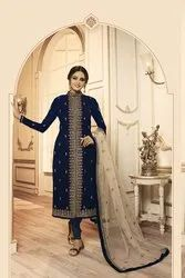 Pr Fashion Launched Beautiful And Heavy Designer Suit With Two Bottoms