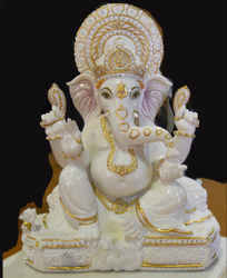 White Marble Ganesh Statues