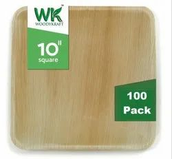 WOODYKRAFT 10 INCH Areca Leaf Plate Eco Friendly, Dinnerware Plates , Natural and Biodegradable