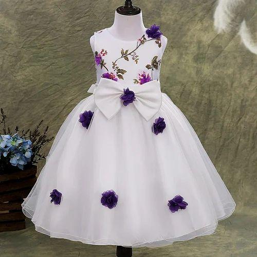 0ea6a782fc34be Purple Floral Applique Party Dress