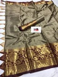 Designer cotton silk saree