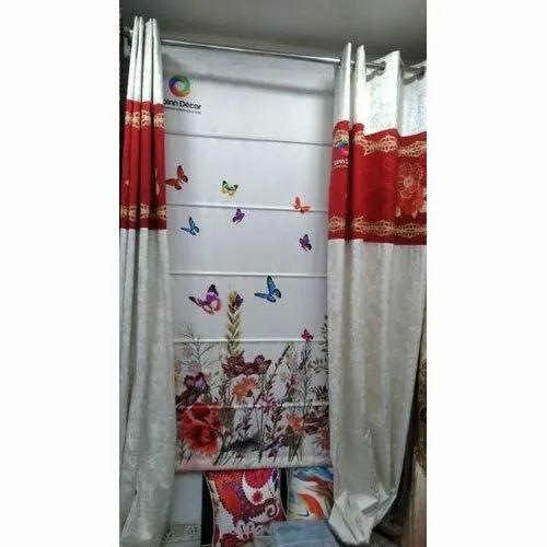Printed Multicolor Designer Window Curtain