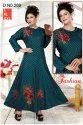 Party Wear 3/4th Sleeve Ladies Anarkali Kurti, Wash Care: Dry Clean