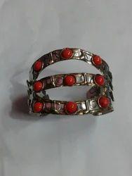 Brass and Stone Bracelet