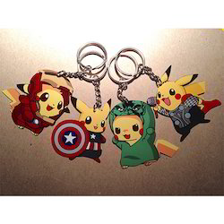 Yellow Rubber Animal Keychain, Packaging Type: Packet, Size: 15 X 7 Cm