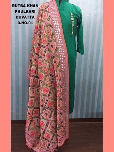 a9c70c8ce7 Georgette Rutba Khan Phulkari Dupatta, Rs 999 /piece, The Step N ...