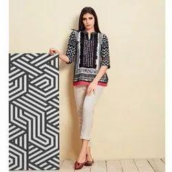 Mrigya Stitched Ladies Digital Printed Cotton Top