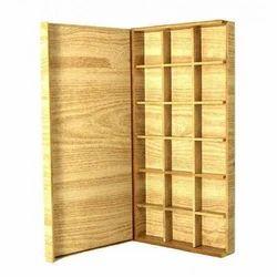 Yellow Wooden Chocolates Box