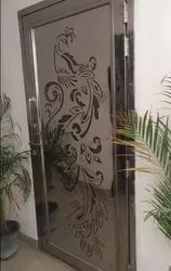 Silver Stainless Steel SS Single Door, Thickness: 16 Gej, Material Grade: 304 Jindal