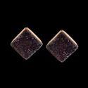 Sugar Druzy Gemstone Studs Design Handmade Earring