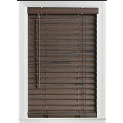 Brown Wooden Venetian Roller Blind
