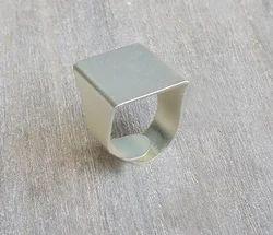 Geometric Shape Minimalist Silver Plated Rings