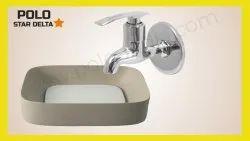 Chrome Silver POLO Brass Bibcock tap, Size: 15mm