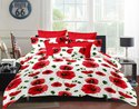 Cotton Floral Printed Double Bedsheet