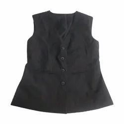 Party Plain Men Designer Black Waistcoat