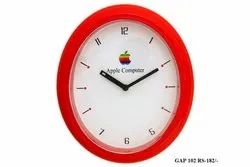 Red Analog Table Clock, Model Number: Gap 102
