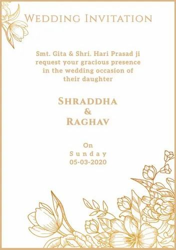 floral wedding invitation card for whatsapp at rs 399pdf