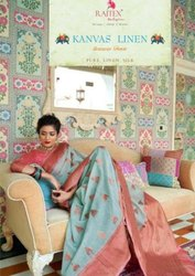 Rajtex Kanvas Linen Silk Saree Catalog Collection