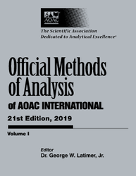 Official Methods of Analysis of AOAC INTERNATIONAL, 21st Edition (2019)  3 Volumes set