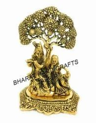 Golden Plated Radha Krishna