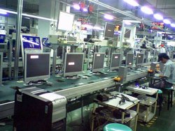 LED TV assembly line