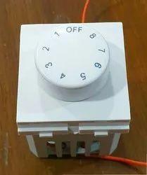 8 Step Modular Fan Regulator for Home, 220volts - 240 Volts