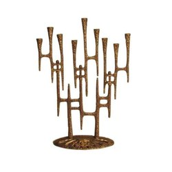 Brass/Aluminium Antique Menorah