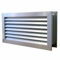 Aluminium Exterior Air Aluminum Louvers, For Office Use