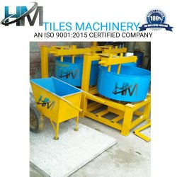 Color Pan Mixer With Hand Trolley